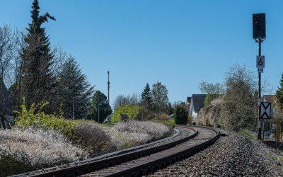 Gleisbauarbeiten Oktober 2019